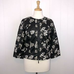 AlbertoMakali Faux Leather Jacket Floral